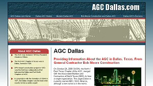 Featured Commercial Construction Website - AGC Dallas.com