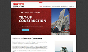 Featured Commercial Construction Website - Concrete Contractor.com