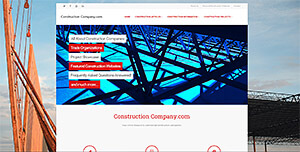 Featured Commercial Construction Website - Construction Company.com