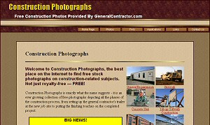 Featured Commercial Construction Website - Construction Photographs.com
