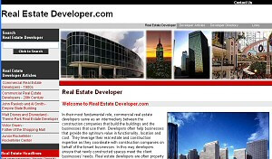 Featured Commercial Construction Website - Real Estate Developer.com