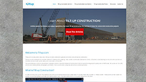 Featured Commercial Construction Website - Tilt up.com